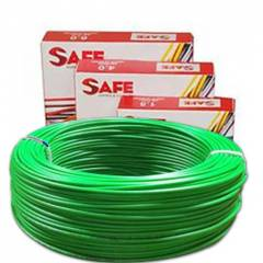 Safe 2.5 sqmm Single Core 90m Green HRFR PVC Industrial Cables, S3630