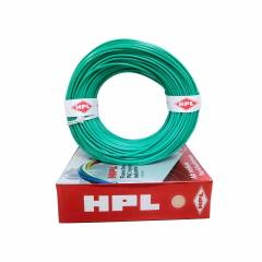 HPL 1 Sq mm Green Single Core Unsheathed Household Wire, Length: 200 m