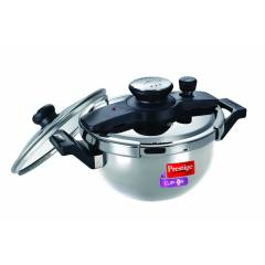 Prestige Clip on 3.5 Litre Stainless Steel Pressure Cooker, 25654