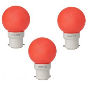Pyrotech 0.5W LED Deco Red Bulb , PELB0.5X3R (Pack of 3)