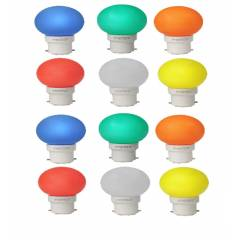Pyrotech 0.5W LED Deco Multicolor Bulb, PELB0.5X12M (Pack of 12)