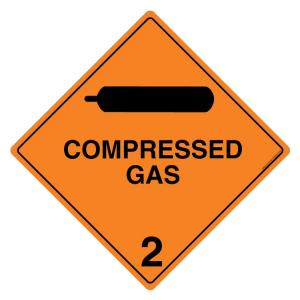 Safety Sign Store Compressed Gas 2 Sign Board, HW308-600AL-01