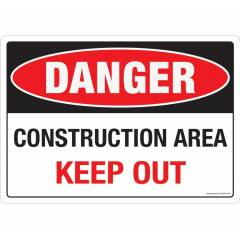 Safety Sign Store Danger: Construction Area, Keep Out Sign Board, SS244-A3PC-01