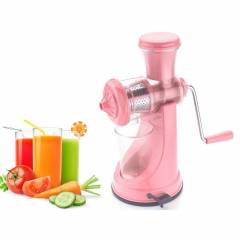 SM Elegant Pink Manual Hand Fruit Juicer (Steel Handle & Vacuum Lock)