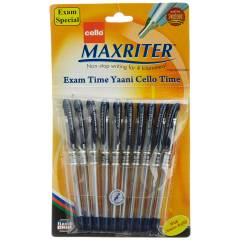 Cello Maxriter Blue Ball Point Pen (Pack of 10)