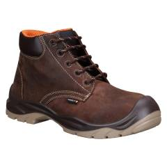 Torp REDDING-02 High Ankle Leather Composite Toe Brown Safety Shoes, Size: 6