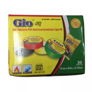 Gio Yellow Self Adhesive PVC Electrical Insulation Tape, Length: 8 m