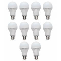 Homes Decor 12W White LED Bulb (Pack Of 10)