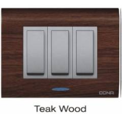 Cona Olive Grand 6M Texture Teak Wood Modular Plate With Indicator