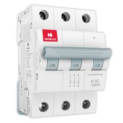 Havells Euro-II 32A Triple Pole D Curve MCB, DHMGDTPF032