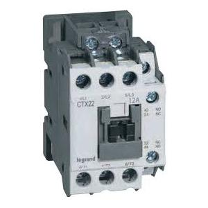 Legrand 3 Pole Contactors CTX³ 22 Integrated Auxiliary Contacts 1 NO + 1 NC, 4160 96