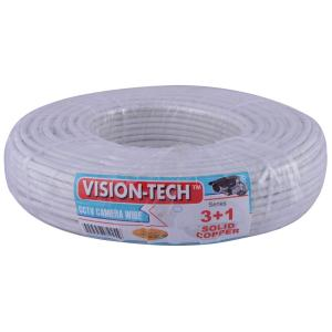 Visiontech 90m Copper 3+1 CCTV Camera Cable, cctv wire 3+1