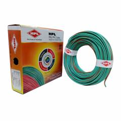 HPL 1.5 Sq mm Green Single Core FRLS Wire, Length: 200 m