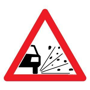 Asian Loto 3 mm Traffic Sign Dusty Road Ahead Sign Board, ALC-SGN-21-900
