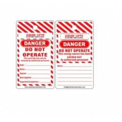 Asian Loto Danger Do Not Operate Lockout Tagout, ALC-LT-SC (Pack of 10)