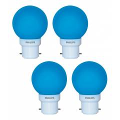 Philips 0.5W B-22 LED Deco Blue Bulbs (Pack of 4)