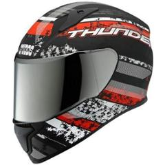 Studds Thunder D1 Matt Black N2 Full Face Helmet, Size: L