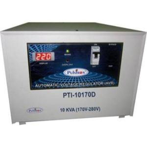 Pulstron PTI-10170D 10kVA 170-280V Single Phase Grey Automatic Voltage Stabilizer for Mainline