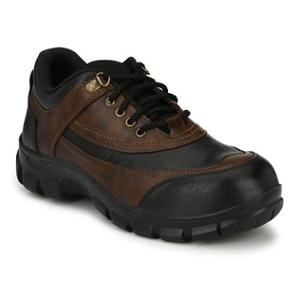 Timberwood TW18BRN PU Steel Toe Brown Safety Shoes, Size: 8