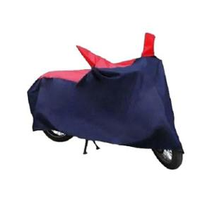 Uncle Paddy Red & Blue Two Wheeler Cover for Hero Glamour FI