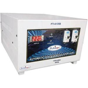 Pulstron PTI-6135B 6kVA 135-290V Single Phase White Bypass Automatic Mainline Voltage Stabilizer