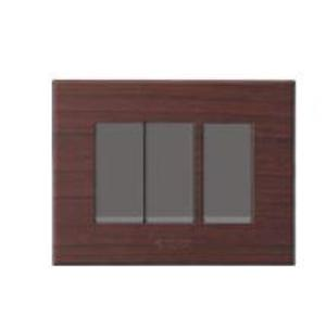 Polycab Caprina Levana 2 Module African Wenge Wooden Finish Cover Plate, SLV0900208