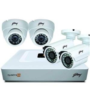 Godrej SeeThru Full HD CCTV Camera Kit without Hard Disk, Godrej1MP2DOME2BULLET