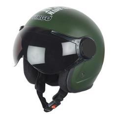 Virgo BLT Open Face Green Matt Tinted Helmet, Size (Medium, 58 cm)