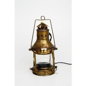 Tucasa Vintage Table Lamp with Antique Brass Shade, AT-02