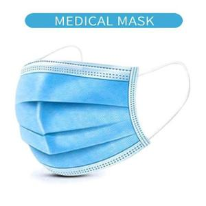 3 Ply Blue Disposable Mask for Face Protection (Family Pack of 4)
