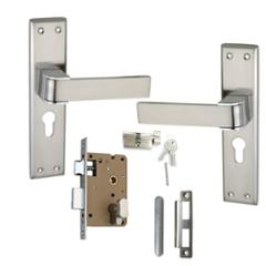 Atom O-34 Stain Finish Cylindrical Mortise Lock Set With 3 Brass Keys