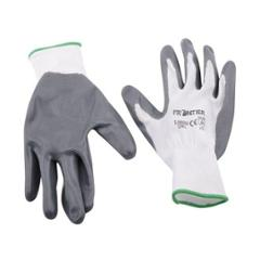 Frontier White & Grey Nylon Cut Resistant Gloves (Pack of 12)