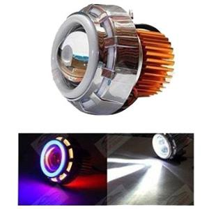 Andride Blue, Red & White Fancy LED Projector Headlight for Car & Bike