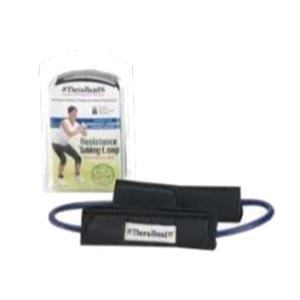 TheraBand Professional Blue Intermediate & Advanced Resistance Tube Loop with Padded Cuffs, 21433