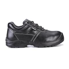 Fuel Marshal M/C Black Leather Steel Toe Safety Shoes, 649-8301, Size: 6