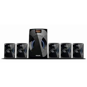 Philips 45W 5.1 Channel Black Multimedia Speakers System, SPA4040B