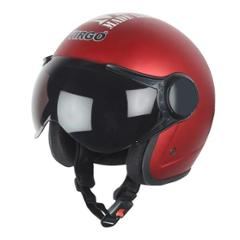 Virgo BLT Open Face Red Matt Tinted Helmet, Size (Medium, 58 cm)