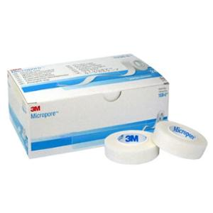 3M Micropore 0.5 Inch Surgical Tape, 1530-0 (Pack of 24)
