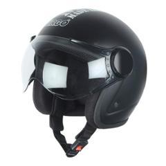 Virgo BLT Open Face Black Matt Clear Helmet, Size (Medium, 58 cm)