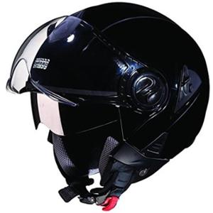 Studds Downtown Black Open Face Helmet, Size (XL, 600mm)