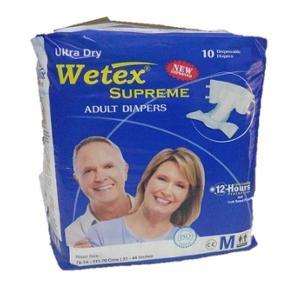 Wetex Supreme 10 Pcs Medium Adhesive Band Adult Diaper