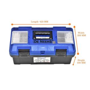 De Neers PTBO22 Plastic Tools Box with Organizer, Size: 275x250x550 mm