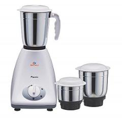 Bajaj Popular 450W White & Grey Mixer Grinder with 3 Jars