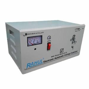 Rahul Base-5 C5 5kVA 20A 140-280V 3 Step Automatic Copper Voltage Stabilizer for Main Line Use
