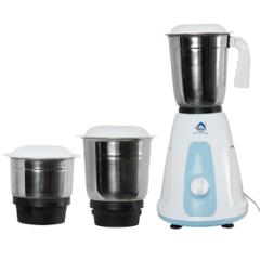 SSGC Pearl 500W White & Blue Mixer Grinder with 3 Stainless Steel Jars