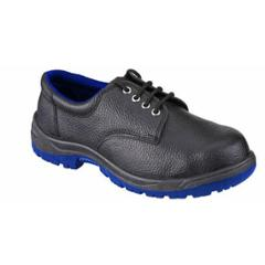 Acme Tusker Steel Toe Low Ankle Black Safety Shoes, Size: 6