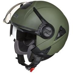 Studds Downtown Military Green Open Face Helmet, Size (Large, 580mm)