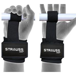 Strauss Free Size Black Cotton Weight Lifting Gym Support, ST-1298