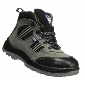 Allen Cooper AC 1157 Antistatic Steel Toe Grey & Black Safety Shoes, Size: 6
