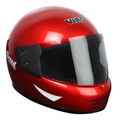 Virgo Airzed Full Face Red Glossy Tinted Helmet, Size (Medium, 58 cm)